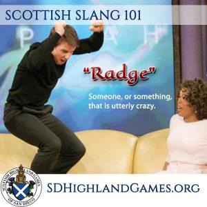 scottish slang for crazy radge