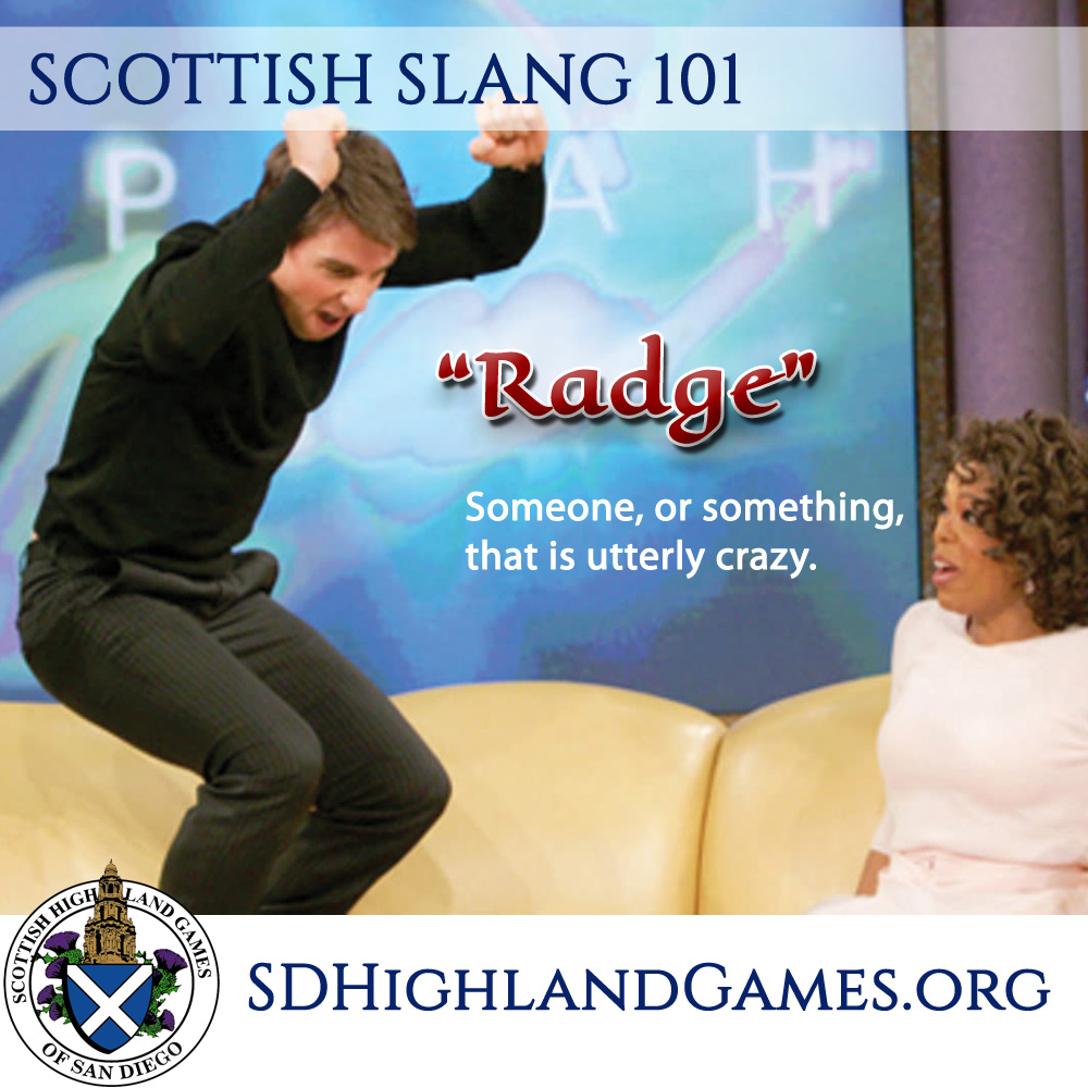 scottish slang for crazy radge